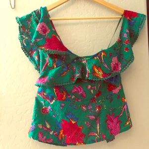 Floral off shoulder top brand new with tags